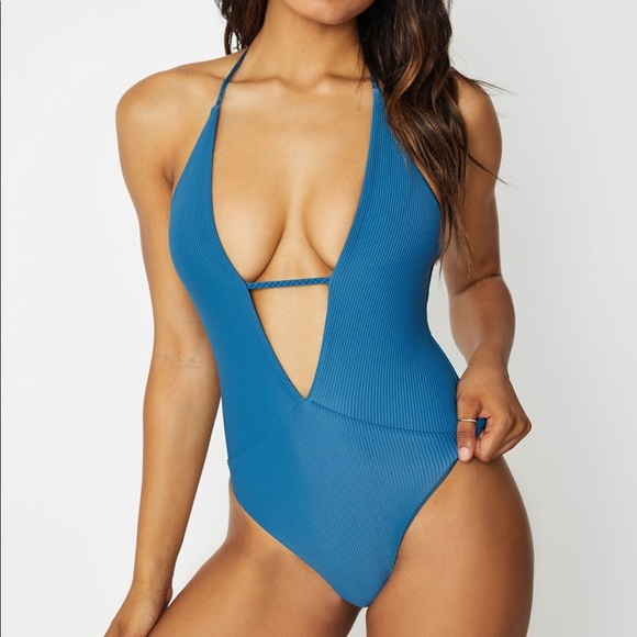 71590050e8060 Frankie s bikinis lily one piece in deep sea blue